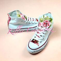 Custom Floral High Top Converse -made to order- any size on Etsy, $90.00