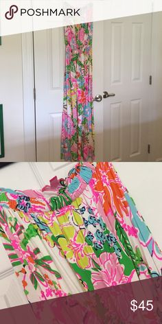 Lilly Pulitzer for Target maxi dress nosey posie Washed once but never worn. Beautiful summer pattern. Lilly Pulitzer for Target Dresses Maxi