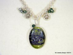 Tree Picture Pendant Necklace with Tree Agate by SDJewelryDesign16, $30.00