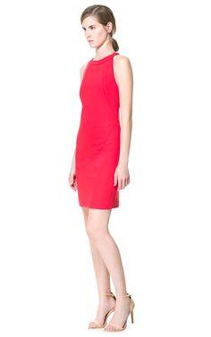$79 Red Halter Cut Dress @ Zara.com