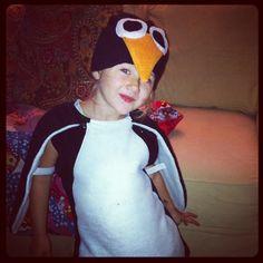 Penguin costume for P day in kindergarten