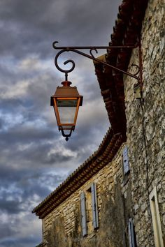 Last hour of daylight in southern France. The light of the sun beautifully reflected on this lantern.