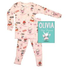 Books To Bed Olivia Infant & Toddler Long John and Book Set (2T)  #Books_to_Bed #Apparel