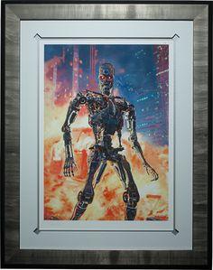 Terminator The Future is Not Set Premium Art Print