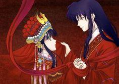 Inuyasha -Kikyo and Naraku by PangurBann