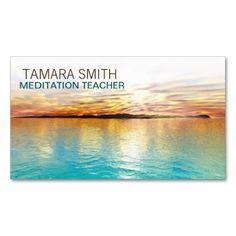 Meditation Teacher 'Sunset' Pack Of Standard Business Cards