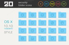 Check out Security Folder Icons Set by MastakA on Creative Market