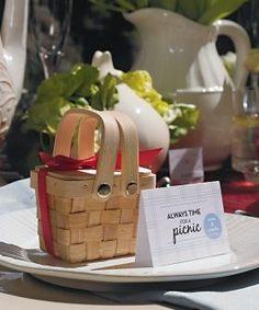 Wood Picnic Wedding Favor Baskets - 6 pcs - Unique Wedding Favor Boxes - Favor Boxes - Favor Packaging - Wedding Favors & Party Supplies - Favors and Flowers Creative Wedding Favors, Beach Wedding Favors, Wedding Favor Boxes, Unique Wedding Favors, Bridal Shower Favors, Rustic Wedding, Wedding Ideas, Wedding Stuff, Wedding Gifts