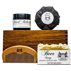 Deluxe Beard Kit  Beard Care Kit  Beard Soap  Beard Shampoo  Beard Kit for Men  Beard Balm  Beard Comb  Beard Care  Beard Set  Organic Beard Kit * Check this awesome product by going to the affiliate link Amazon.com at the image.