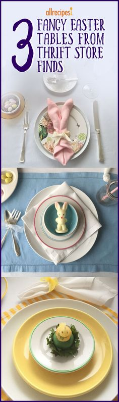 3 Fancy Easter Tables From Thrift Store Finds