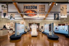 "FREEDOM: ""to secure the Blessings of Liberty."" On view through 2017. LancasterHistory.org. Lancaster, Pennsylvania www.lancasterhistory.org LancasterHistory.org's latest exhibition explores the stories of Lancastrians who sought freedom, fought for freedom, lived in freedom, and were denied freedom over the course of 300 years. Photo credit: Larry Lefever Photography Image of the new FREEDOM exhibition at LancasterHistory.org."