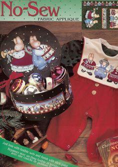 Daisy Kingdom Love Is Born Christmas No Sew Fabric Applique Fusible Web Slick Paint New