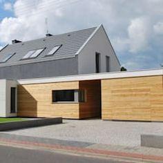 moderne Häuser von Prodom Architektura i Konstrukcja Bungalow, Shed, Outdoor Structures, Dream Houses, Outdoor Decor, Studio, Home Decor, Ideas, Carport Garage