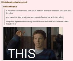 DO IT<< I MET THIS ONE GIRL WHO COMPLIMENTED MY TARDIS HAT AND WE JUST STARTED TALKING ABOUT FANDOM STUFF