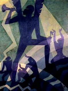 Aaron Douglas, Judgment Day, 1939.