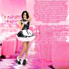 Kristine's New Lovely Sissy Maid ʚ♡ɞ http://sissykiss.com/image/kristines-new-lovely-sissy-maid/ #sissy #feminization #transgender #captions