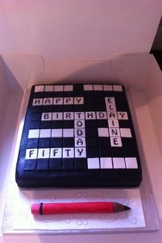 Crossword cake!