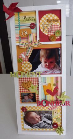 Cute picture frame idea for the kids' rooms