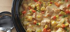 Our Slow Cooker Creamy Turkey Stew is one of the most hearty and delicious recipes to come out of a slow cooker. The tender pieces of turkey are elevated in flavour with the help of the vegetables and spices. Smoked Salmon Chowder, Bacon Corn Chowder, Bacon Soup, Turkey Stew Slow Cooker, Slow Cooker Recipes, Crockpot Recipes, Rice Noodle Soups, Fresh Strawberry Pie, Smoked Turkey