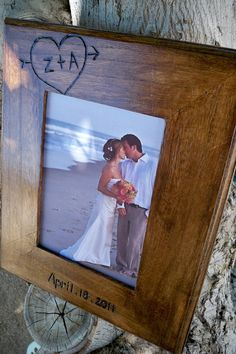 Wedding Gift For Parents8x10 Rustic Frame Personalizedengraved Initials And Date