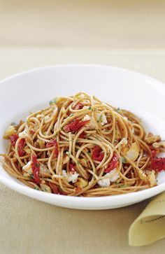 Whole-wheat spaghetti makes this dish both rustic and healthy. Get the Recipe!   - Redbook.com