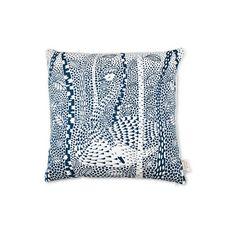 HOUSE OF RYM - Cover me up – Cushion Cover Birchy bird/blue