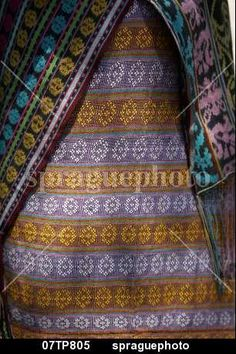 Detail of traditional ikat weave,  Oecussi-Ambeno, East Timor stock image