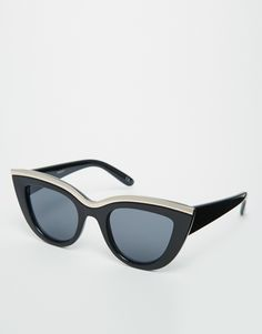 ASOS Half Frame Metal Cat Eye Sunglasses