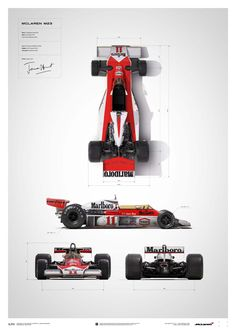 McLaren James Hunt 40th Anniversary M23 Blueprint Limited Edition Poster