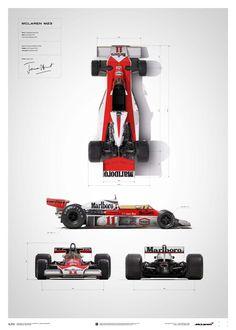 McLaren James Hunt 40th Anniversary M23 Blueprint Limited Edition Poster