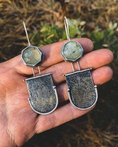 """@norahpaynemetals on Instagram: """"✨Beautiful faceted rutilated prehnite dangles✨I haven't made a proper hinge in ten years and I killed it my first try. Not too shabby!…"""" Daniel Wellington, Metalsmith Jewelry, Dangles, Shabby, Bracelets, How To Make, Accessories, Beautiful, Instagram"""