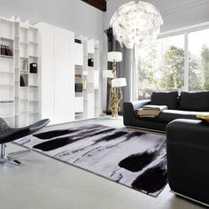 With Impressive Fluffy & Tufted Built Quality, Verona 162 040 Brush Black Abstract Rug is made using Polyester Yarn. Black Abstract, Verona, Colours, Rugs, Home Decor, Products, Farmhouse Rugs, Interior Design, Home Interior Design