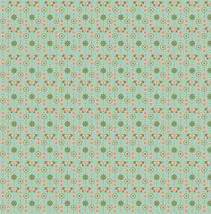 Tecido adesivo - Libélula verde água
