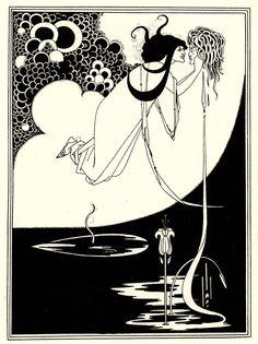 Aubrey Beardsley (1872-1898, England) | the Climax, 1893