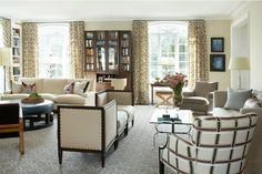 Love the neutral color scheme in this living room.