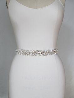 Swarovski crystal floating belt Bridal belt sash by SabinaKWdesign