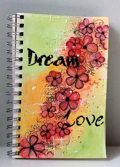Je vous montre aujourd'hui une page de mon journal artistique. Today I am sharing a page of my art journal. Sur mon fond,...