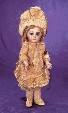 French Bisque Bebe Jumeau in Original Couturier Costume and Shoes