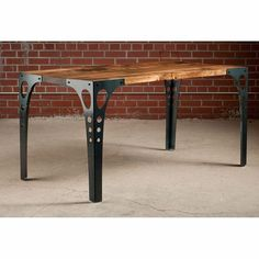 Table - With its industrial dining table design, the Pekota Table's sleek fluid lines and graceful curves exude a clean contemporary look that's perfect for today's . Diy Coffee Table, Table Design, Industrial Design Furniture, Vintage Industrial Furniture, Furniture, Industrial Dining Table, Home Decor, Metal Furniture, Welding Table