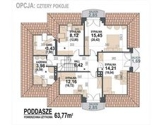 DOM.PL™ - Projekt domu DM Śnieżka K CE - DOM GM2-59 - gotowy koszt budowy Civil Construction, Plans Architecture, House Plans, Floor Plans, House Design, Flooring, How To Plan, Home, Home Plans