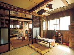 Old house cafe Hana walk - samira Japanese Style House, Traditional Japanese House, Japanese Interior Design, Asian Interior, Room Interior, Interior Design Living Room, Interior And Exterior, Bedroom Minimalist, Cafe House