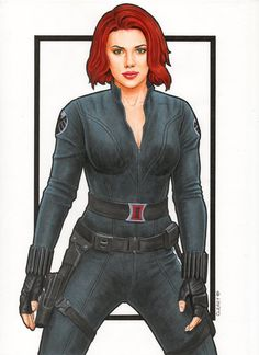 Commission piece, movie style Black Widow, copics on bleedproof. Marvel Girls, Marvel Vs, Marvel Heroes, Marvel Characters, Marvel Movies, Captain Marvel, Black Widow Scarlett, Black Widow Natasha, Black Widow Spider