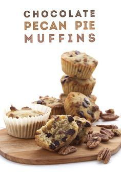 Low Carb Keto Chocolate Pecan Pie Muffins. You won't believe how good these are! Grain-free LCHF THM recipe via @dreamaboutfood
