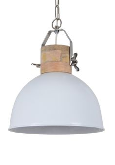 Hanglampen Industrieel : Hanglamp Fabriano glans wit MAAT KEUZE