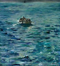 Edouard Manet - The Escape of Henri de Rochefort (1831-1915) 20 March 1874, 1880-81