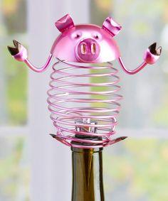 Love this Pig Wine Bottle Stopper on #zulily! #zulilyfinds