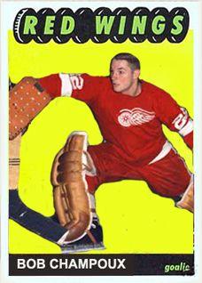 Hockey Goalie, Hockey Teams, Hockey Players, Ice Hockey, Winged Girl, Goalie Mask, Hockey Cards, Detroit Red Wings, Trading Cards