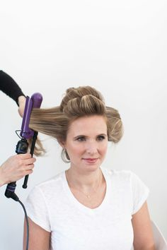 Don't forget the curling iron! http://www.stylemepretty.com/living/2015/04/20/how-to-fake-a-blowout/ | Photography: Ruth Eileen - http://rutheileenphotography.com/