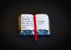 """You may wonder why I put together 90 of these chocolate scriptures last week… I'm in the leadership of the children's organization at my church called the Primary. Sunday was the day that the children put on their program for everyone. The theme of the year was """"My soul delighteth in the scriptures."""" So when …"""