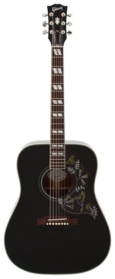 gibson - limited edition hummingbird rare black finish.